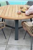 Basso ronde teak tafel 4 Seasons Outdoor met aluminium onderstel _