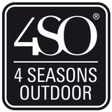 4 Seasons Outdoor Hampton Ecoloom Charcoal eetstoel_