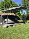 4 Seasons Outdoor Hacienda parasol Charcoal_