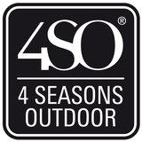 4 Seasons Outdoor Carthago loungestoel + voetstoel Frozen_