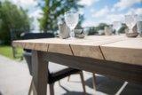 Bar tafel teak hout met aluminium_