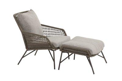 4 Seasons Outdoor Babylon loungestoel met voetstoel