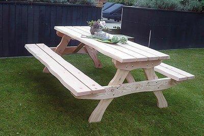 Picknicktafel Alexia XL onbehandeld douglas hout