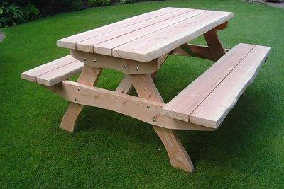 Picknicktafel Alexia verduurzaamd douglas hout