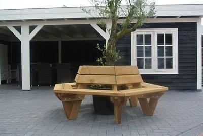 Boombank Aron onbehandeld douglas hout