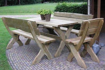Picknickset Leontien verduurzaamd douglas hout
