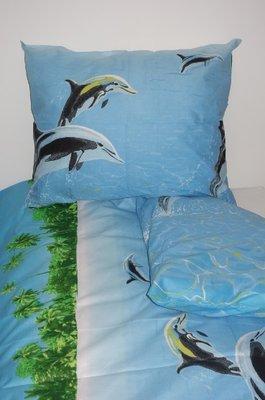 Dekbedovertrek dolfijnen 140 x 200 cm