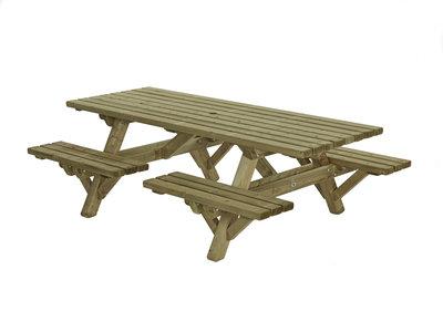 Picknick tafel met open instap