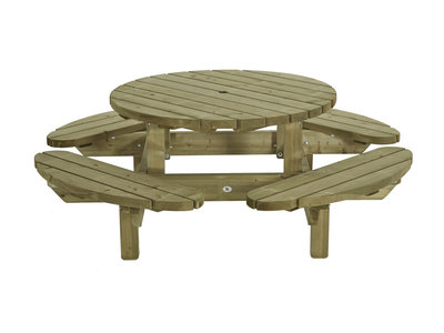 Picknick tafel rond model