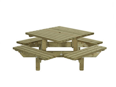 Picknick tafel vierkant model