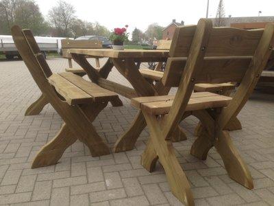 Picknickset Leontien 3 delig verduurzaamd douglas hout