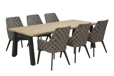 Savoy tafel met 6 stoelen 4 Seasons outdoor