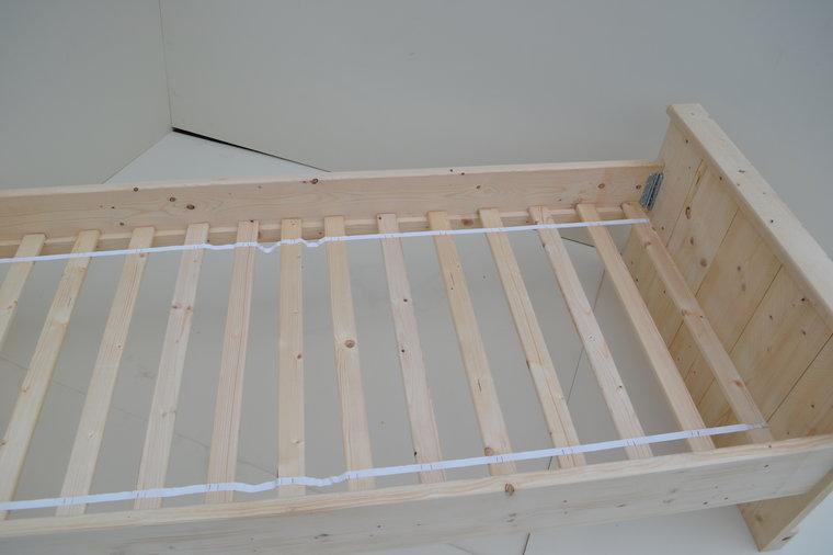 Beste Steigerhouten Bed 1-Persoons - JVB Meubels | Tuinmeubels en OX-76