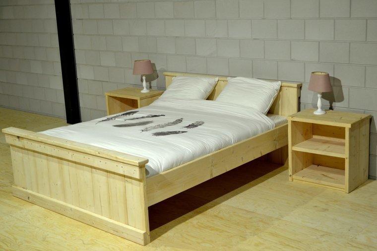 Super Steigerhouten Bed 1-Persoons - JVB Meubels | Tuinmeubels en QP-46