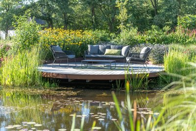 4 Seasons Outdoor Accor loungeset antraciet 4-delig optie 1