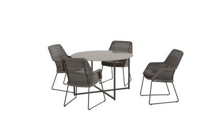 4 Seasons Outdoor Samoa eetset Ecoloom Charcoal 5-delig optie 2