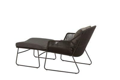 4 Seasons Outdoor Accor loungestoel met voetstoel antraciet
