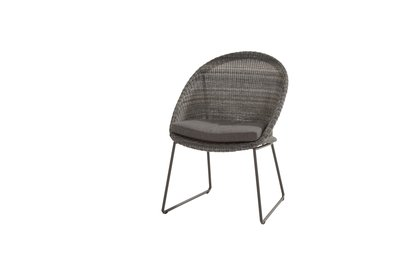 4 Seasons Outdoor Hampton Ecoloom Charcoal eetstoel