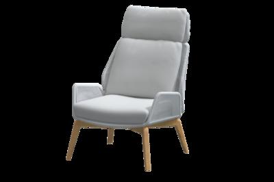4 Seasons Outdoor Carthago loungestoel + voetstoel Frozen