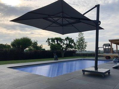 Zweef parasol Hacienda parasol Charcoal