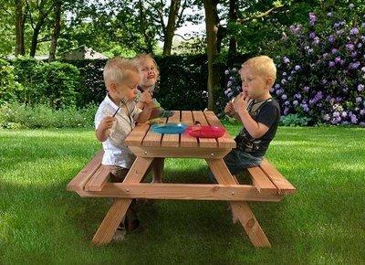 Kinderpicknicktafel Sanne onbehandeld douglas hout