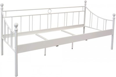 Stalen kinder bed wit gespoten op=Op