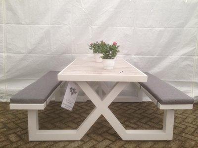 Aluminium picknick tafel met kussens